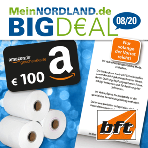 BIGD€AL August 2020 Thermorolle mit bft-Logo